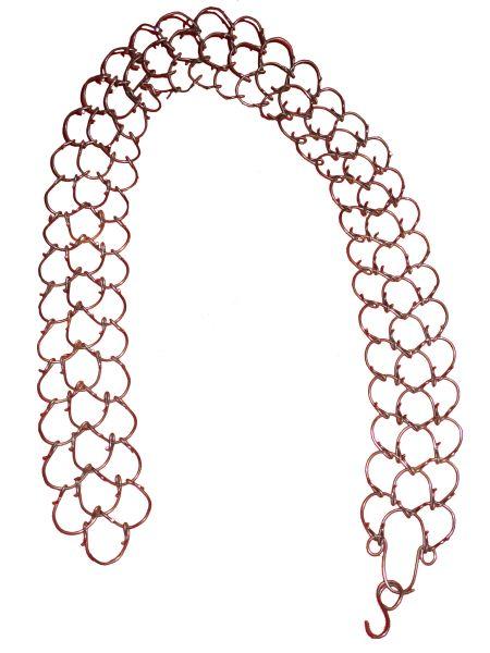 Bußkette aus Eisendraht gewirkt, die Dornen nach Innen getragen waren diese Ketten für einige fanatische Büßer ein Teil Ihrer Buße.