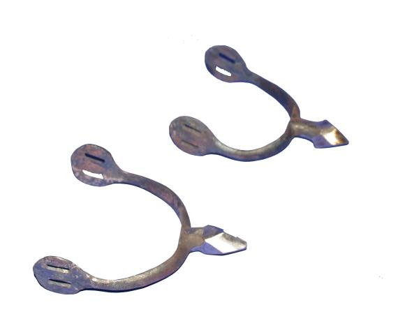 Stachelsporen aus einem Stück geschmiedet mit gerundeter Spitze.